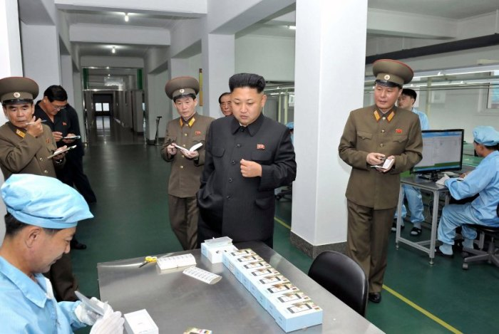 NKOREA-KIM-TECHNOLOGY-PHONE