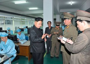 North Korean leader Kim Jong-Un visits the May 11 Factory