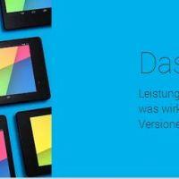 Googles Nexus 7 (2013), ab sofort sind alle 3 Versionen wieder im Play Store verfügbar