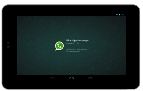 WhatsApp_auf_Tablet_Logo