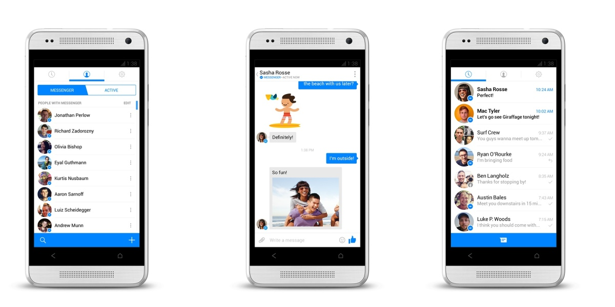 Facebook Messenger mit neuem Design im Testbetrieb