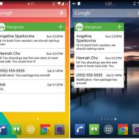 Hangouts Widget erreicht Play Store