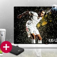 Preisdeal - LG packt beim Kauf eines Ultra-HD TV ein Gratis LG G PAD 8.3 sowie eine Harddisk mit 5 Stunden Ultra-HD Content dazu