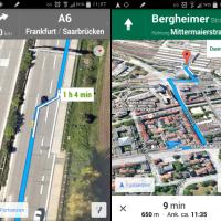 Google Maps Update v8.0 - Fahrspurassistent, Offline Karten & mehr Infos bei der Fußweg Navigation