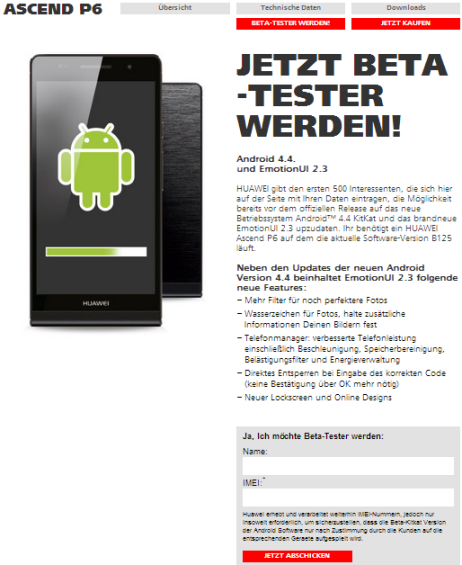 Huawei_Ascend_P6_Kitkat_Betatest