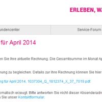 Warnung! - Gefälschte Telekom Rechnungen enthalten Schadsoftware