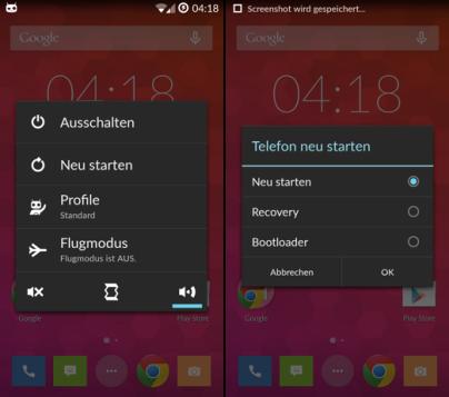 OnePlus_ONE_Bootloader_entsperren_Neustartmenü