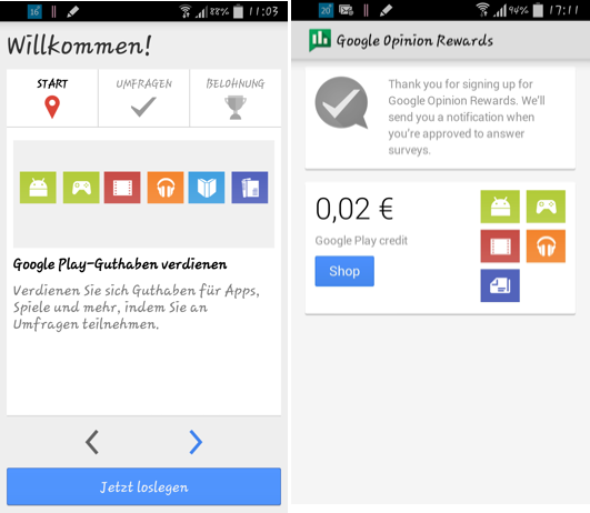 Google Umfrage App Keine Umfragen