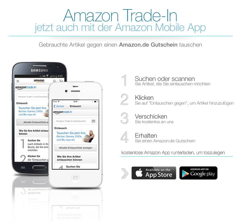 amazon trade in gebrauchte handys tablets gegen gutscheine eintauschen. Black Bedroom Furniture Sets. Home Design Ideas