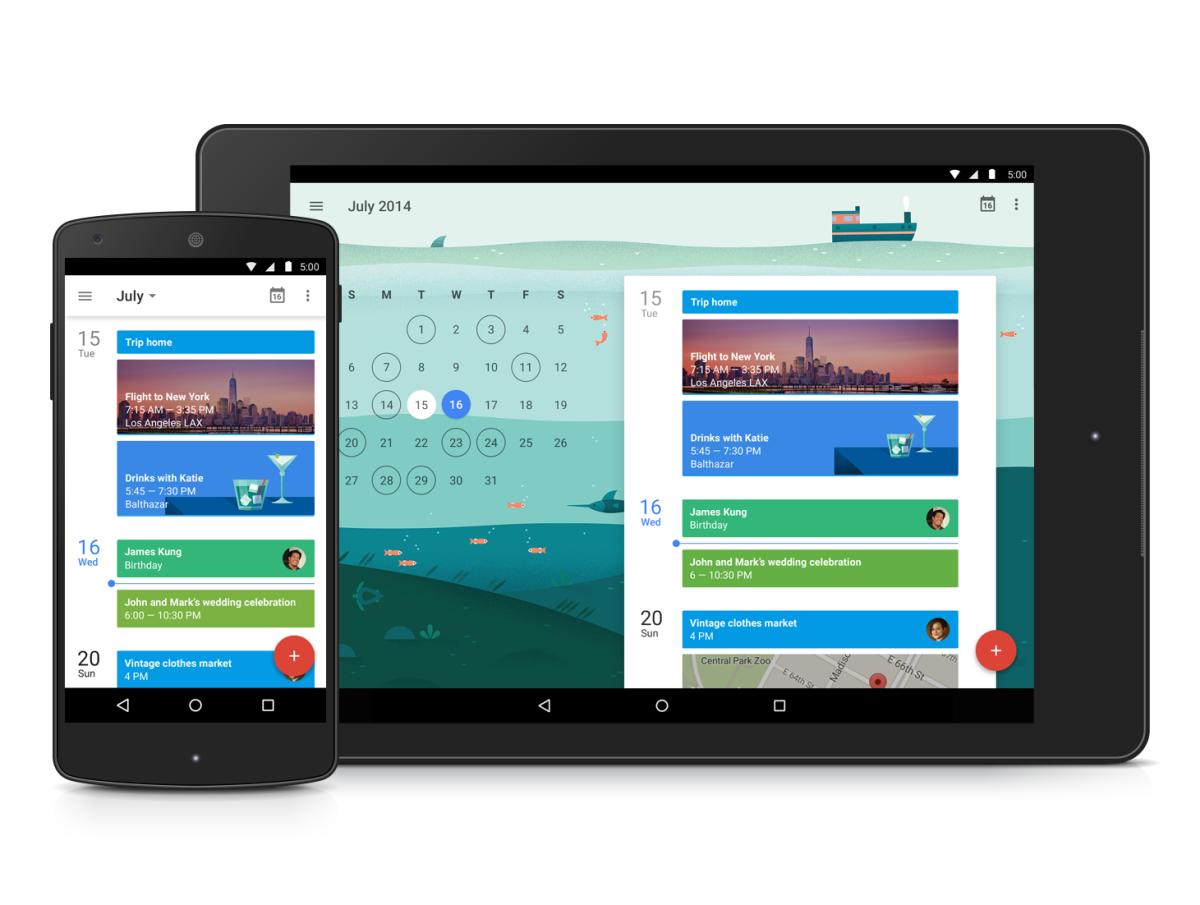 Google Kalender Reloaded - Material Design, Bilder & zusätzliche Features