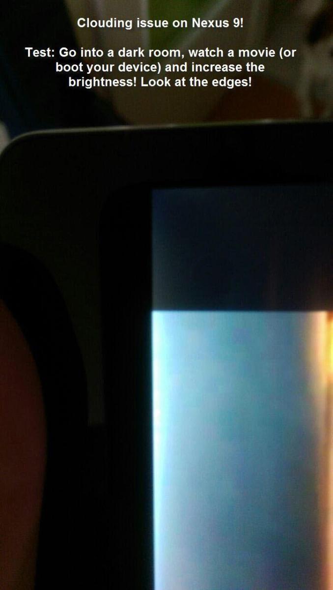 """HTC Nexus 9 """"Lighbleed Gate"""" - ausgefranste Lichthöfe """"Clouding"""" an den Displayrändern verärgern die Kunden"""