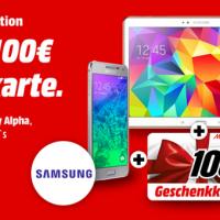 Samsung/Media-Markt Aktion - 100 Euro Gutschein beim Kauf eines Galaxy Alpha, S5 oder Tab S 10.5 bis zum 17. November abstauben!