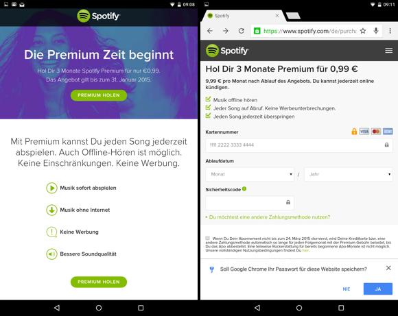 spotify premium kündigen